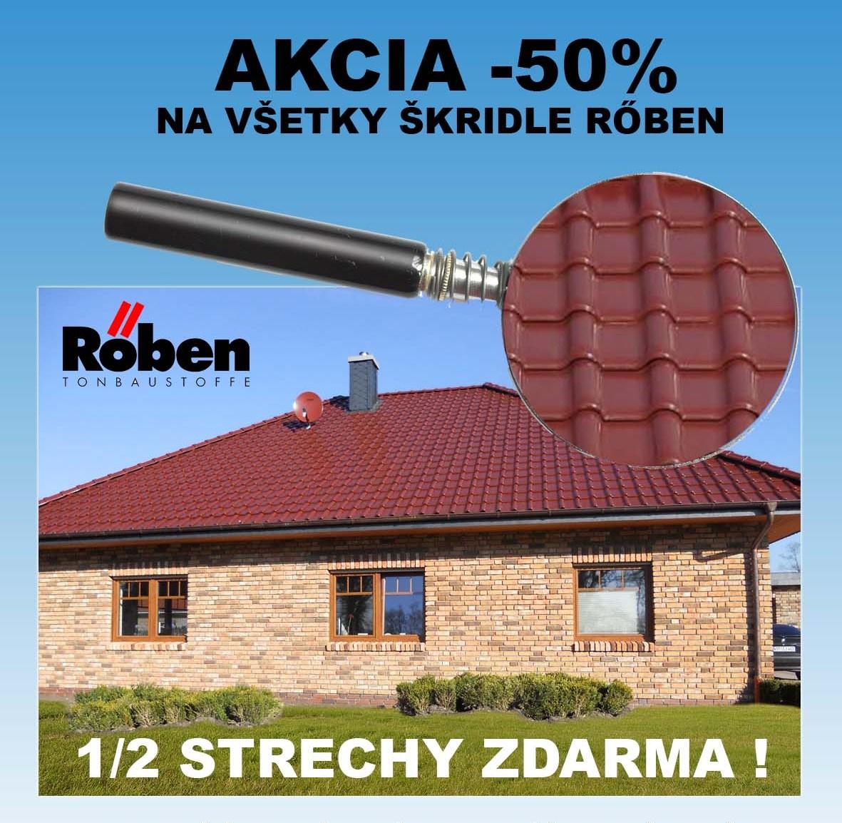 Akcia keramická škridla Roben