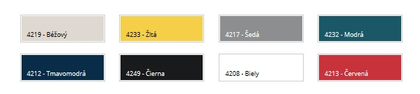 Farebné prevedenie Dakea zatemňujúce rolety
