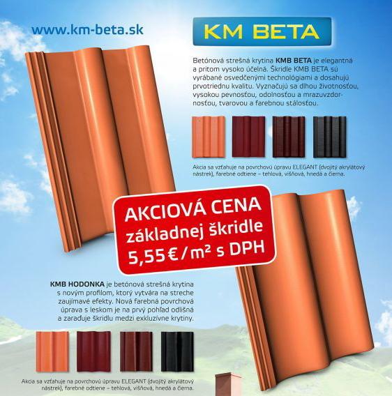 Akcia betónová škridla KM-Beta