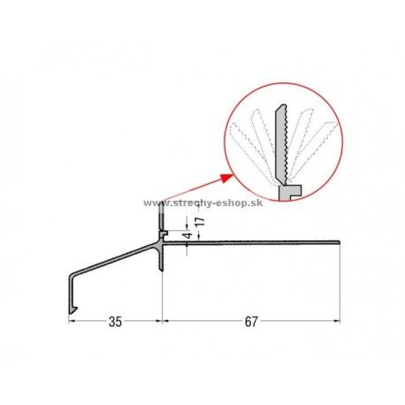 Balkónový profil H17 2,5m