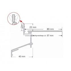 Balkónový profil H22 2,5m