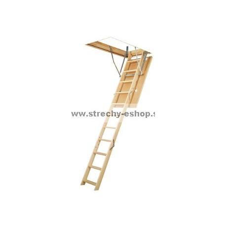 Podkrovné schody FAKRO s drevenným rebríkom LWS Smart