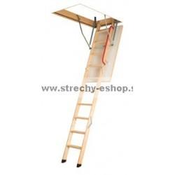 FAKRO Podkrovné schody s drevenným rebríkom LWK Komfort