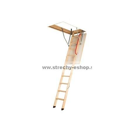 Podkrovné schody FAKRO s drevenným rebríkom LWK Komfort