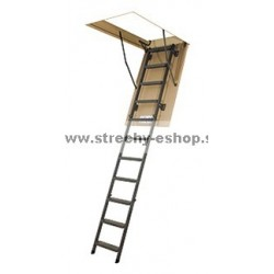 Podkrovné schody FAKRO s kovovým rebríkom LMS Smart