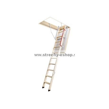 Podkrovné schody FAKRO s drevenným rebríkom LTK Energy