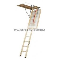 Podkrovné schody FAKRO s drevenným rebríkom LWT