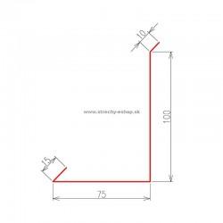 Oplechovanie k stene bočné Pozink r.š. 200 mm