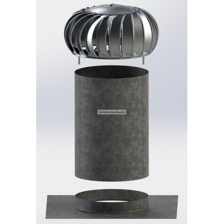 Ventilačná turbína LOMANCO TIB 14 SET pre ploché strechy