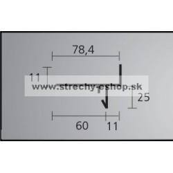 Balkónový profil STONE 2,5 m