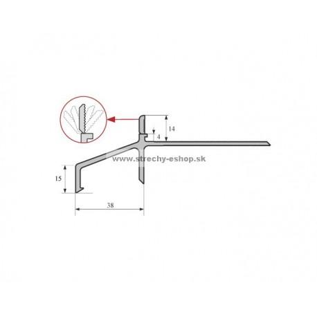 Balkónový profil PVC H14 2,5m