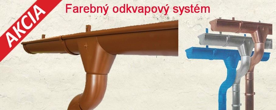 Farebný odlvapový systém